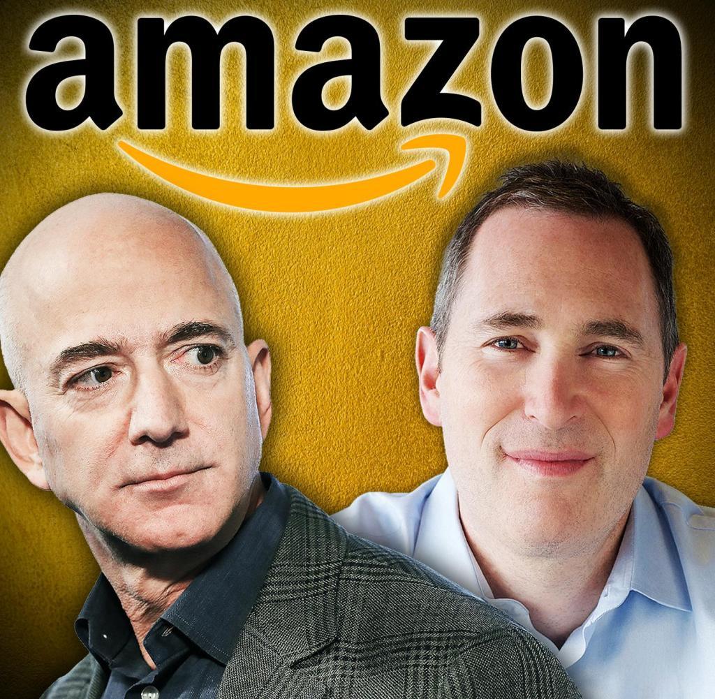 Il nuovo CEO di Amazon Andy Gacy e il predecessore Jeff Bezos