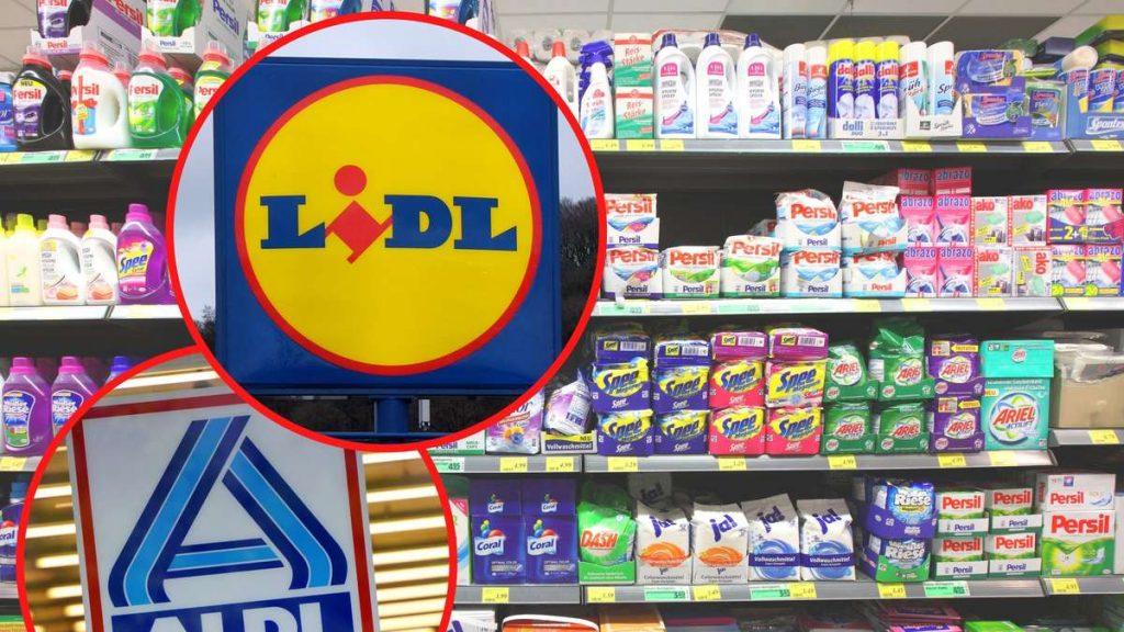 Aldi e Lidl: il marchio di detersivi può volare fuori portata